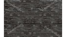 Фототапет стена от плосък камък в тъмно сив