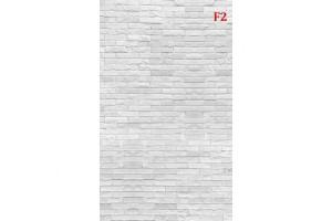 Фототапет имитация на стена от бял сечен камък