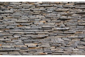 Фототапет имитация на стена от камък сив плосък