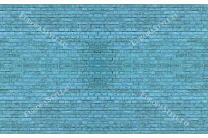 Фототапет имитация на стена от тухли в тюркоаз