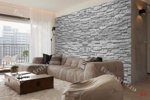 Фототапет реден камък имитация в сиво 2