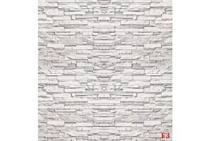 Фототапет имитация реден бяло-сив камък