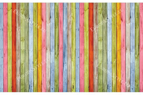 Фототапети дървени греди шарени