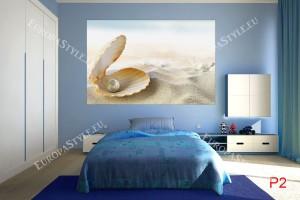 Фототапети морска раковина и пясък