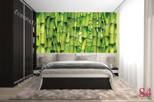 Фототапети стена реден зелен бамбук 2