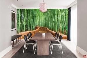 Фототапети бамбукова гора с  мост