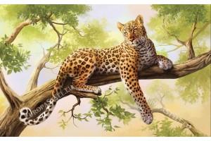 Фототапети леопард на дърво модел 2