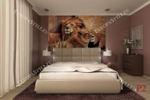 Фототапети двойка лъв и лъвица