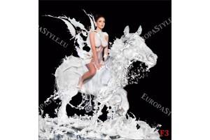 Фототапети арт жена на кон