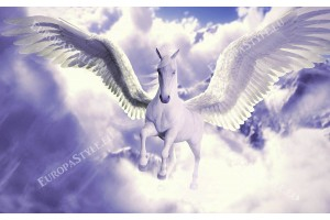 Фототапети фантастичен бял кон с крила-пегас в 2 варианта