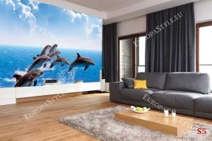 Фототапет ято делфини и морски вълни