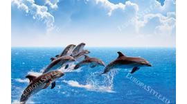 Фототапет размер 250 см-165 см - Морски делфини