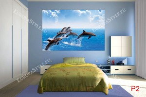 Фототапет-30% размер 250 см-165 см - Морски делфини