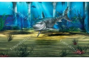Фототапет акула на морско дъно