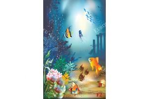Фототапети рисувани рибки на морско дъно