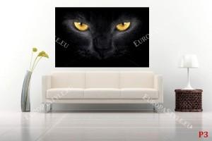 Фототапети черна котка