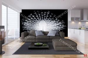 Фототапет черно-бял паун