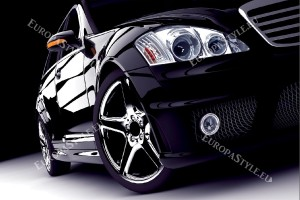 Фототапети красив черен автомобил