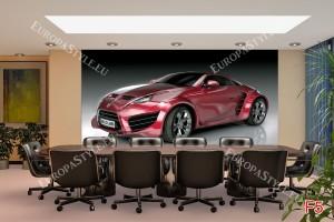 Фототапети изглед червен спортен автомобил
