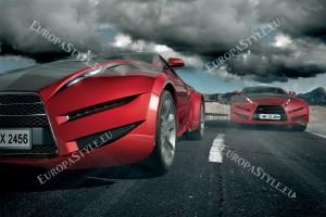 Фототапети два спортни автомобила в движение