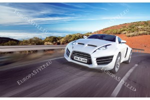 Фототапети красив спортен бял автомобил