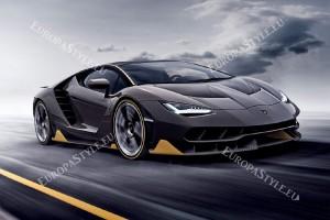 Фототапети жълто-черен спортен автомобил