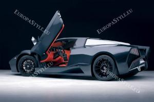 Фототапети изглед спортен автомобил с отворена врата