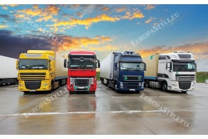 Фототапети камиони тир подредени