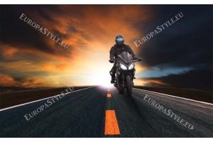 Фототапети моторист с черен мотор