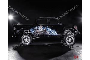 Фототапет черен тунингован джип