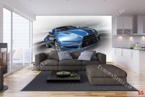 Фототапет синя спортна кола