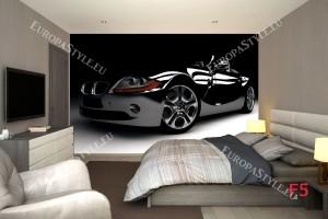 Фототапет спортен черен автомобил BMW