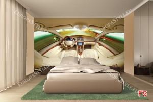 Фототапети кожен салон интериор на кола