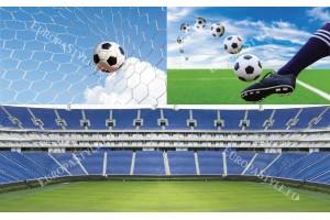 Фототапети колаж на тема футбол