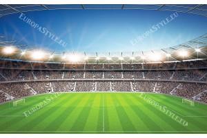 Фототапети панорамен стадион с ясно небе