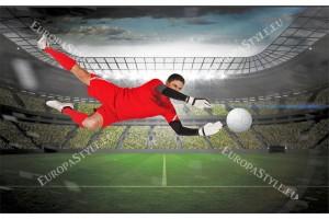 Фототапети стадион с футболист в червен екип