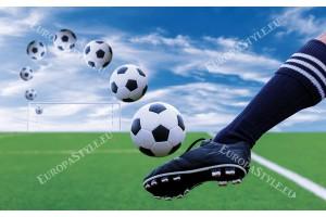 Фототапет футболни топки и обувка