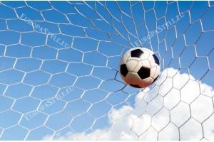 Фототапет футболна топка в мрежата