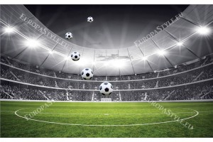 Фототапети стадион в черно и зелената гама в 2 варианта
