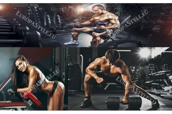 Фототапети колаж модел за фитнес