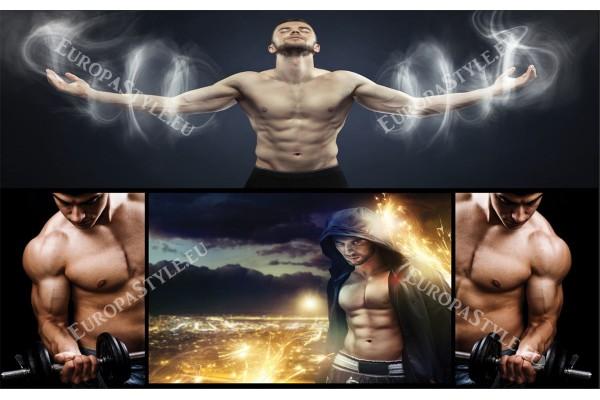 Фототапети колаж за мъжки фитнес
