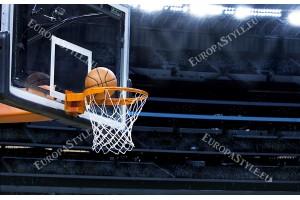 Фототапет баскетболно табло и топка