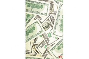 Фототапети изглед доларови банкноти