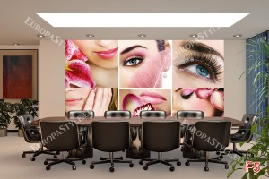 Фототапети фешън колаж за салони за красота