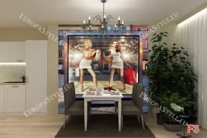 Фототапети жени модели във магазин витрина