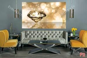 Фототапети изглед изящен диамант 3 цвята