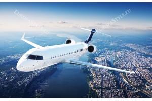 самолет в полет панорама