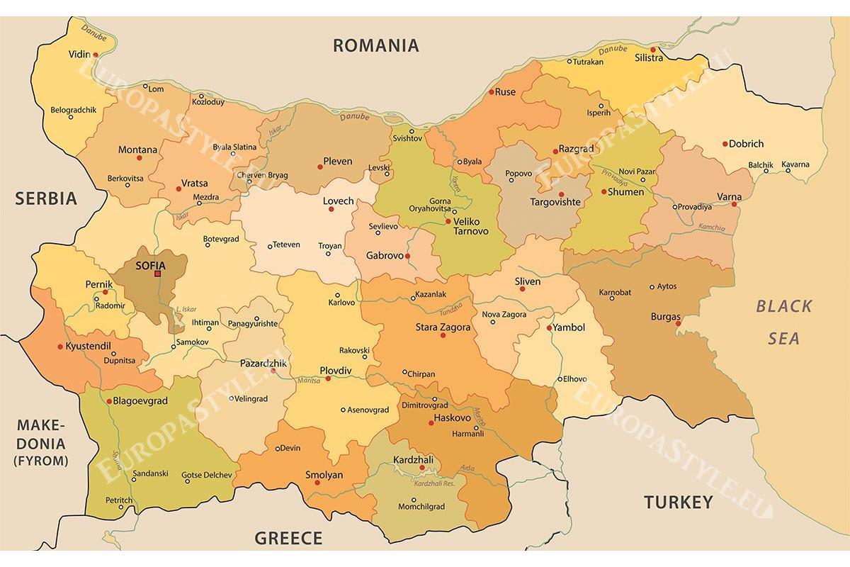 Резултат с изображение за карта на българия