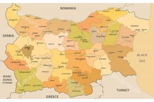 Фототапет карта на България латиница