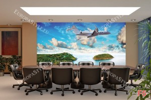 Фототапети красиви острови с бизнес самолет